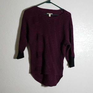 Boysenberry & Black small sweater